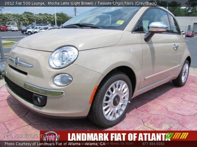 2012 Fiat 500 Lounge in Mocha Latte (Light Brown)