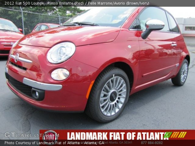 2012 Fiat 500 Lounge in Rosso Brillante (Red)