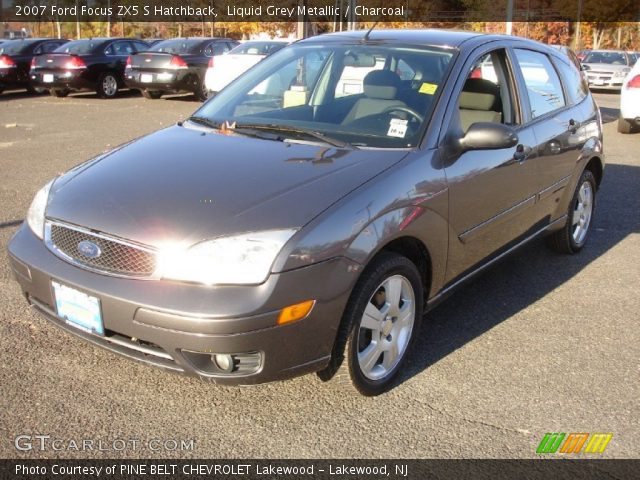 liquid grey metallic 2007 ford focus zx5 s hatchback. Black Bedroom Furniture Sets. Home Design Ideas