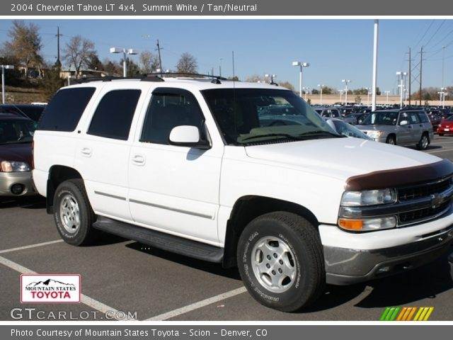 summit white 2004 chevrolet tahoe lt 4x4 tan neutral. Black Bedroom Furniture Sets. Home Design Ideas