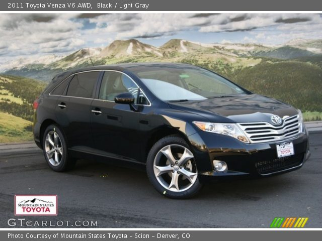 black 2011 toyota venza v6 awd light gray interior. Black Bedroom Furniture Sets. Home Design Ideas