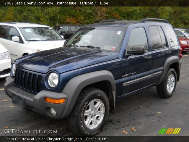 patriot blue pearlcoat 2002 jeep liberty sport 4x4. Black Bedroom Furniture Sets. Home Design Ideas