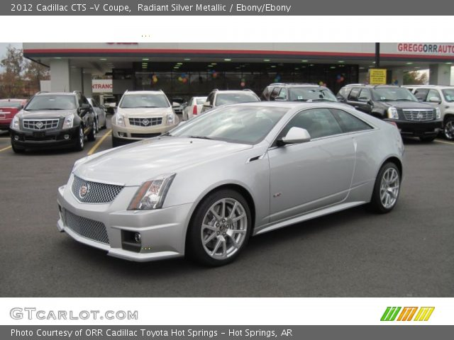 radiant silver metallic 2012 cadillac cts v coupe. Black Bedroom Furniture Sets. Home Design Ideas