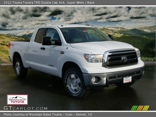 super white 2012 toyota tundra trd double cab 4x4 black interior vehicle. Black Bedroom Furniture Sets. Home Design Ideas
