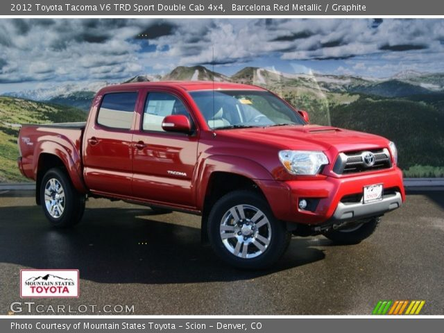 barcelona red metallic 2012 toyota tacoma v6 trd sport double cab 4x4 graphite interior. Black Bedroom Furniture Sets. Home Design Ideas