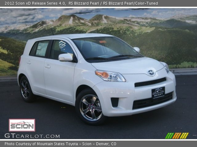 2012 Scion xD Release Series 4.0 in RS Blizzard Pearl