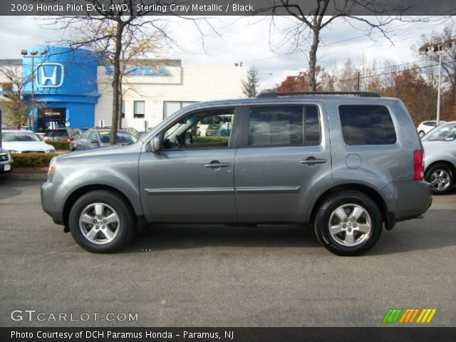 Sterling Gray Metallic 2009 Honda Pilot Ex L 4wd Black Interior Vehicle