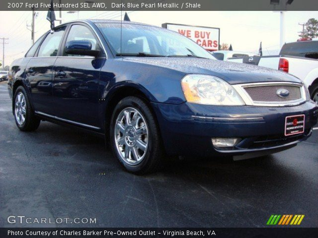 dark blue pearl metallic 2007 ford five hundred sel awd shale interior. Black Bedroom Furniture Sets. Home Design Ideas