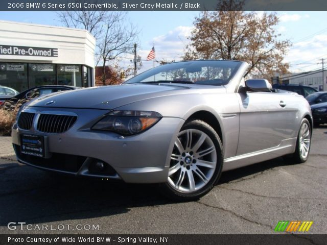silver grey metallic 2006 bmw 6 series 650i convertible black interior. Black Bedroom Furniture Sets. Home Design Ideas