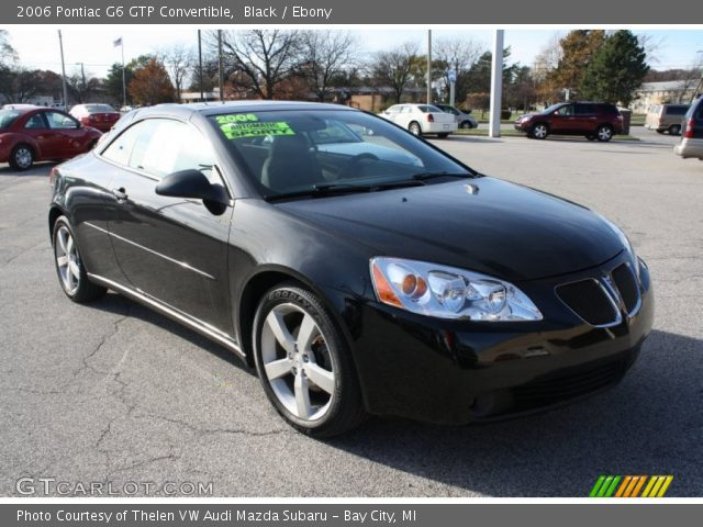 black 2006 pontiac g6 gtp convertible ebony interior. Black Bedroom Furniture Sets. Home Design Ideas