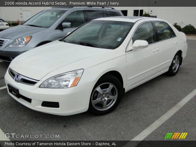 premium white pearl 2006 honda accord hybrid sedan. Black Bedroom Furniture Sets. Home Design Ideas