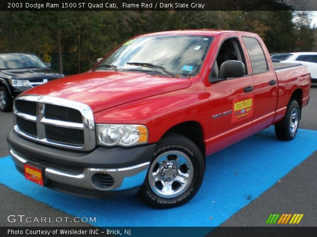 flame red 2003 dodge ram 1500 st quad cab dark slate gray interior vehicle. Black Bedroom Furniture Sets. Home Design Ideas