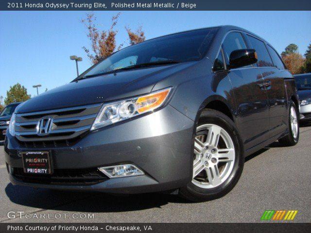 Polished Metal Metallic 2011 Honda Odyssey Touring Elite