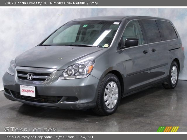 nimbus gray metallic 2007 honda odyssey lx ivory. Black Bedroom Furniture Sets. Home Design Ideas