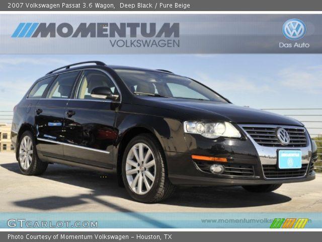 Deep Black 2007 Volkswagen Passat 3 6 Wagon Pure Beige