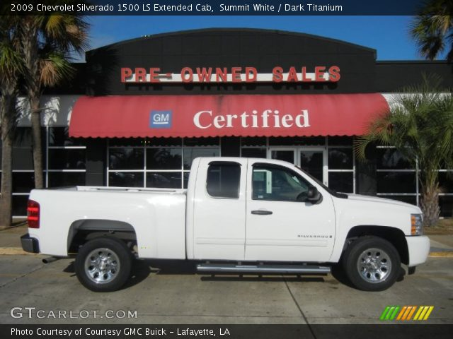 summit white 2009 chevrolet silverado 1500 ls extended cab dark titanium interior gtcarlot. Black Bedroom Furniture Sets. Home Design Ideas