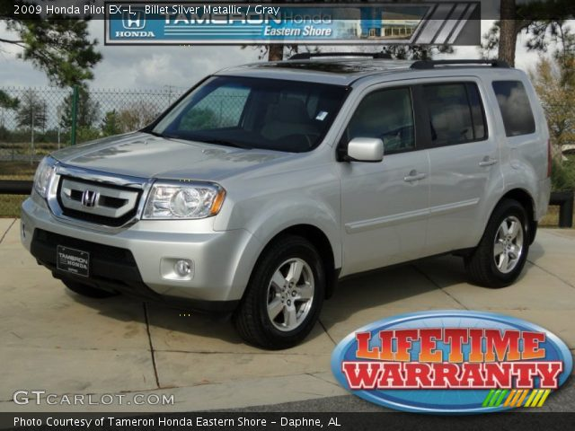 Billet Silver Metallic 2009 Honda Pilot Ex L Gray Interior Vehicle Archive