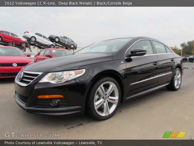 deep black metallic 2012 volkswagen cc r line black cornsilk beige interior. Black Bedroom Furniture Sets. Home Design Ideas