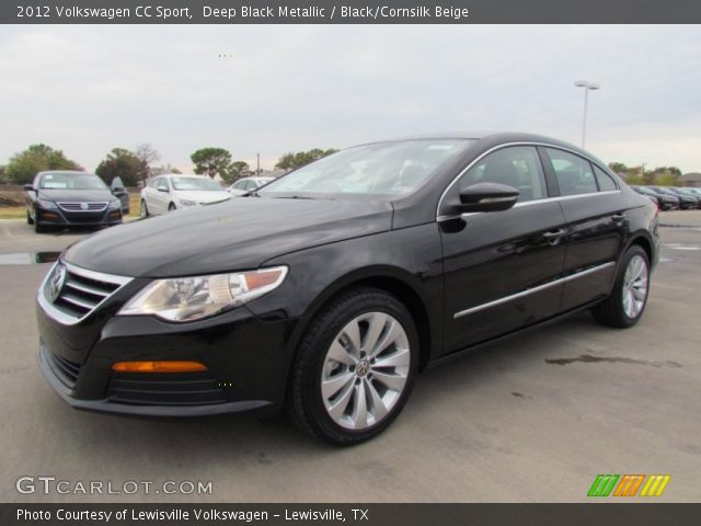 deep black metallic 2012 volkswagen cc sport black cornsilk beige interior. Black Bedroom Furniture Sets. Home Design Ideas