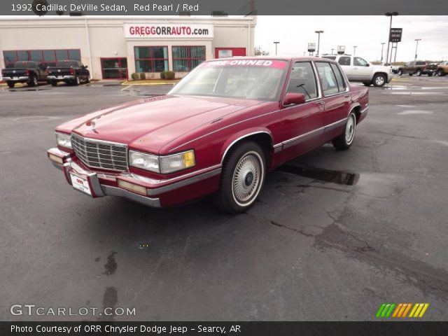 red pearl 1992 cadillac deville sedan red interior. Black Bedroom Furniture Sets. Home Design Ideas