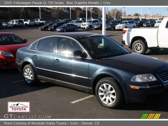 blue graphite metallic 2005 volkswagen passat gl tdi. Black Bedroom Furniture Sets. Home Design Ideas