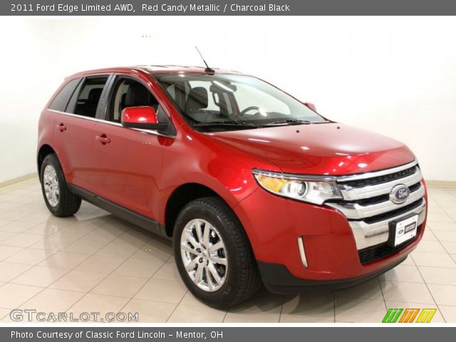 red candy metallic 2011 ford edge limited awd charcoal. Black Bedroom Furniture Sets. Home Design Ideas