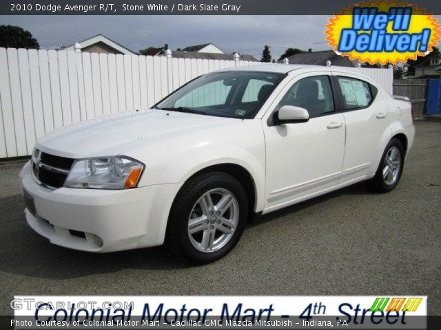 stone white 2010 dodge avenger r t dark slate gray. Black Bedroom Furniture Sets. Home Design Ideas