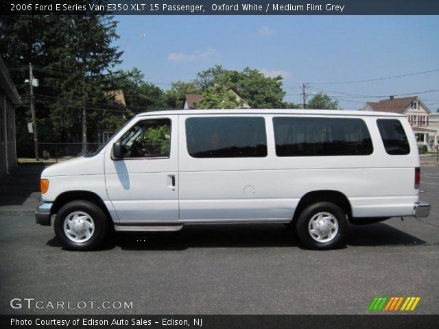Oxford White 2006 Ford E Series Van E350 Xlt 15 Passenger Medium Flint Grey Interior