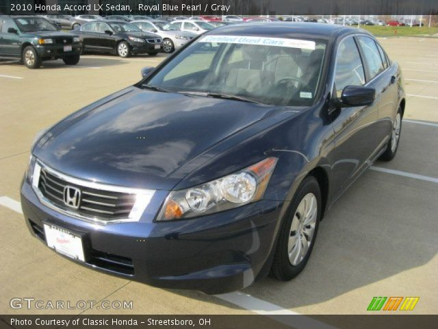 royal blue pearl 2010 honda accord lx sedan gray. Black Bedroom Furniture Sets. Home Design Ideas
