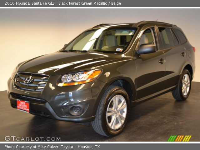 black forest green metallic 2010 hyundai santa fe gls beige interior. Black Bedroom Furniture Sets. Home Design Ideas