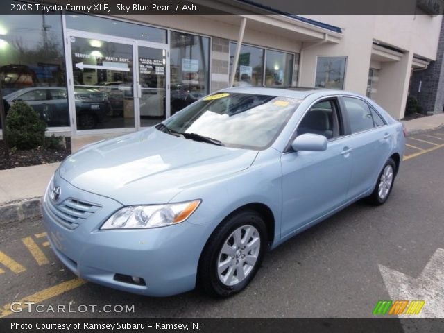 sky blue pearl 2008 toyota camry xle ash interior vehicle archive 56705273. Black Bedroom Furniture Sets. Home Design Ideas