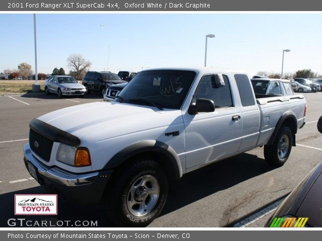 oxford white 2001 ford ranger xlt supercab 4x4 dark graphite interior. Black Bedroom Furniture Sets. Home Design Ideas