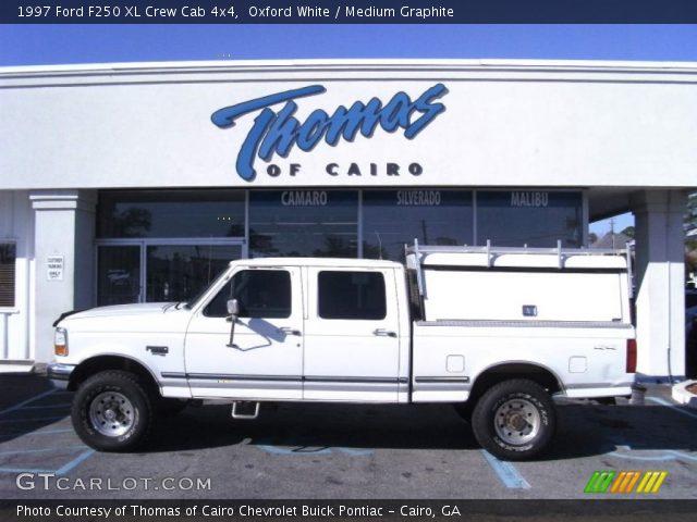 oxford white 1997 ford f250 xl crew cab 4x4 medium graphite interior. Black Bedroom Furniture Sets. Home Design Ideas