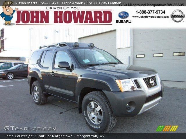 night armor 2012 nissan xterra pro 4x 4x4 pro 4x gray leather interior. Black Bedroom Furniture Sets. Home Design Ideas