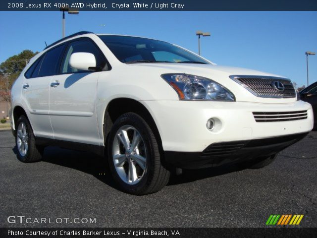 crystal white 2008 lexus rx 400h awd hybrid light gray. Black Bedroom Furniture Sets. Home Design Ideas