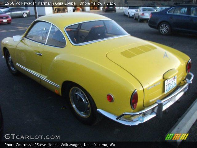 Oriole Yellow 1968 Volkswagen Karmann Ghia Coupe Black