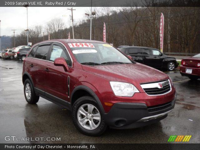 ruby red 2009 saturn vue xe gray interior vehicle archive 56789207. Black Bedroom Furniture Sets. Home Design Ideas