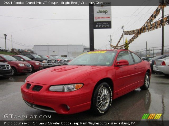 bright red 2001 pontiac grand prix gt coupe graphite. Black Bedroom Furniture Sets. Home Design Ideas