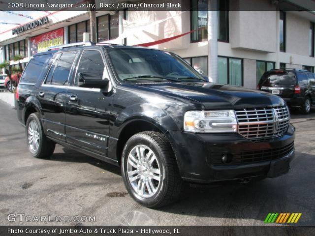 Black 2008 Lincoln Navigator Luxury Stone Charcoal Black Interior Vehicle
