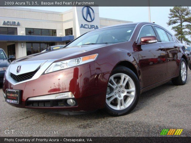 basque red pearl 2009 acura tl 3 5 parchment interior. Black Bedroom Furniture Sets. Home Design Ideas