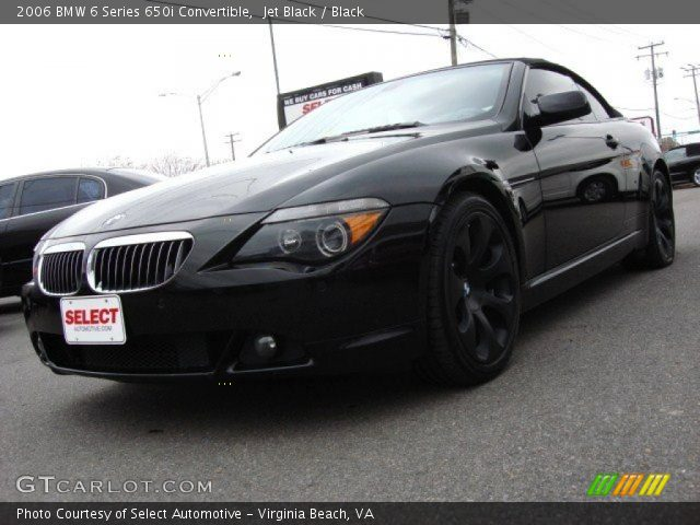 jet black 2006 bmw 6 series 650i convertible black interior vehicle archive. Black Bedroom Furniture Sets. Home Design Ideas