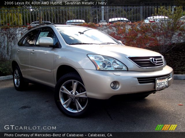 savannah metallic 2006 lexus rx 400h awd hybrid ivory. Black Bedroom Furniture Sets. Home Design Ideas