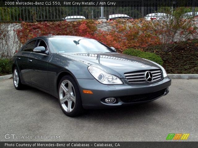 flint grey metallic 2008 mercedes benz cls 550 ash grey interior vehicle. Black Bedroom Furniture Sets. Home Design Ideas