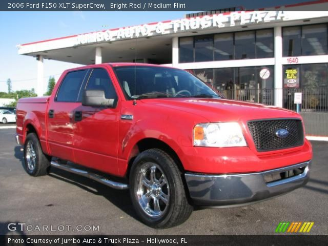 bright red 2006 ford f150 xlt supercrew medium flint. Black Bedroom Furniture Sets. Home Design Ideas
