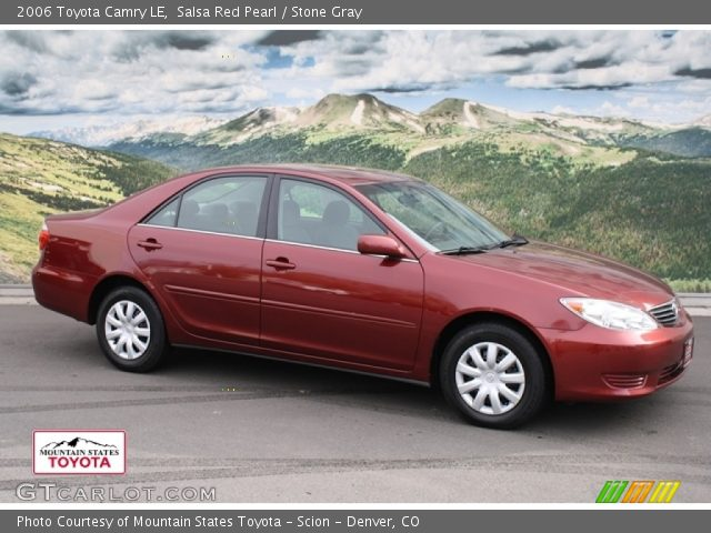 salsa red pearl 2006 toyota camry le stone gray interior vehicle archive. Black Bedroom Furniture Sets. Home Design Ideas