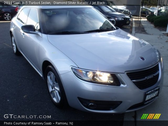 2011 Saab 9-5 Turbo4 Sedan in Diamond Silver Metallic