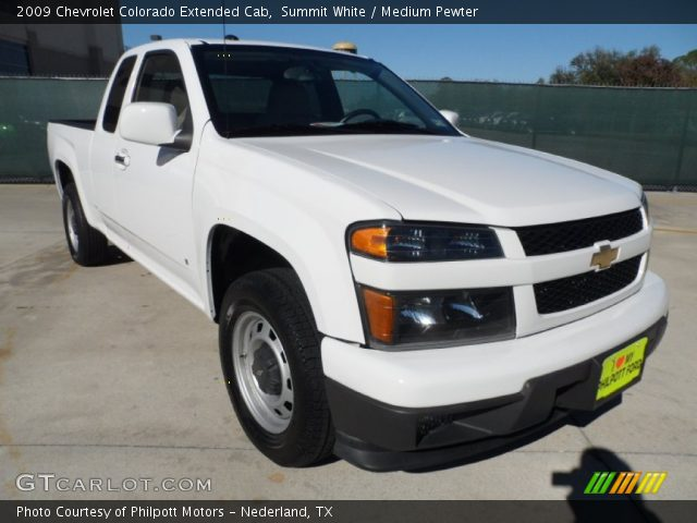 summit white 2009 chevrolet colorado extended cab medium pewter interior. Black Bedroom Furniture Sets. Home Design Ideas