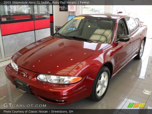 2003 Oldsmobile Alero GL Sedan in Ruby Red Metallic