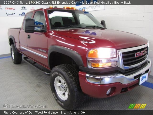 sport red metallic 2007 gmc sierra 2500hd classic sle. Black Bedroom Furniture Sets. Home Design Ideas