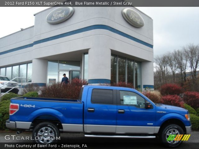 2012 Ford F150 XLT SuperCrew 4x4 in Blue Flame Metallic